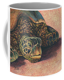 Coffee Mug featuring the painting Honu At Rest by Darice Machel McGuire