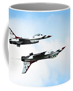 Usaf Thunderbirds Coffee Mug by Lawrence Burry