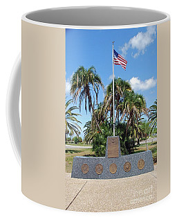 Coffee Mug featuring the photograph Venice Florida War Memorial by Gary Wonning