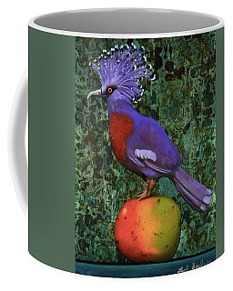 Victoria Crowned Pigeon On A Mango Coffee Mug