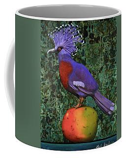 Victoria Crowned Pigeon On A Mango Coffee Mug