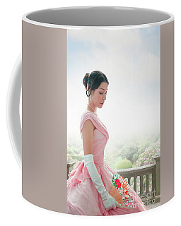 Victorian Woman In A Pink Ball Gown Coffee Mug by Lee Avison