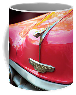 Coffee Mug featuring the photograph Vintage Chevy Hood Ornament Havana Cuba by Charles Harden
