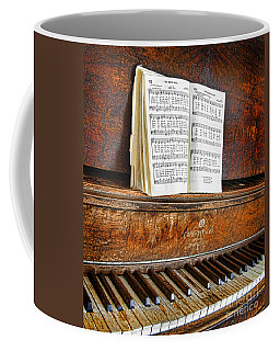 Vintage Piano Coffee Mug by Jill Battaglia