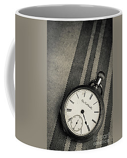 Coffee Mug featuring the photograph Vintage Pocket Watch by Edward Fielding
