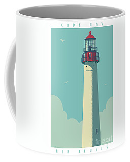 Cape May Poster - Vintage Travel Lighthouse  Coffee Mug