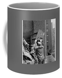 Vivian Maier Self Portrait Probably Taken In Chicago Illinois 1955 Coffee Mug