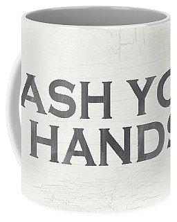 Wash Your Hands Modern Farm Sign- Art By Linda Woods Coffee Mug