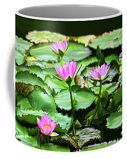 Coffee Mug featuring the photograph Water Lilies by Anthony Jones