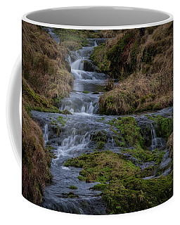 Coffee Mug featuring the photograph Waterfall At Glendevon In Scotland by Jeremy Lavender Photography