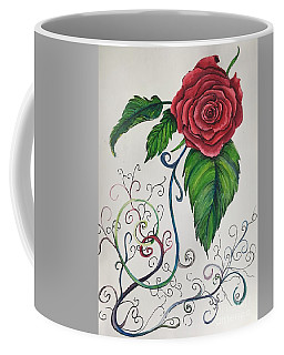 Whimsical Red Rose Coffee Mug