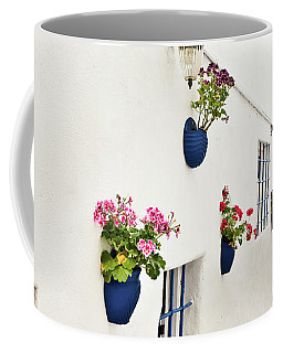 White And Blue Street Coffee Mug