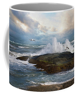 Coffee Mug featuring the photograph White Caps by Robin-Lee Vieira