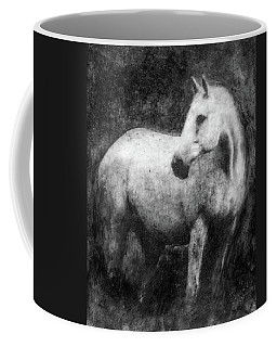 White Horse Portrait Coffee Mug