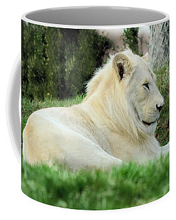 White Lion   Male Coffee Mug