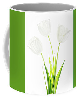 Coffee Mug featuring the photograph White On White by Rebecca Cozart