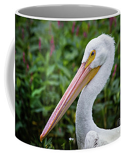 Coffee Mug featuring the photograph White Pelican by Robert Frederick