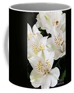 White Peruvian Lilies In Bloom Coffee Mug