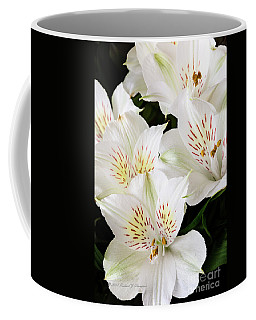White Peruvian Lilies In Bloom Coffee Mug