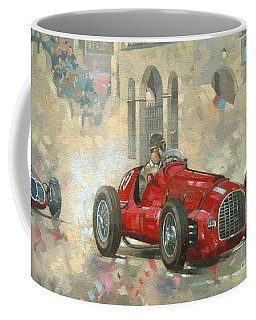 Whitehead's Ferrari Passing The Pavillion - Jersey Coffee Mug