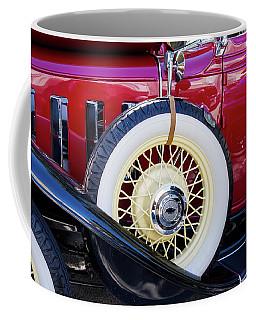 Wide Whitewall Spare Tire Coffee Mug by Arthur Dodd