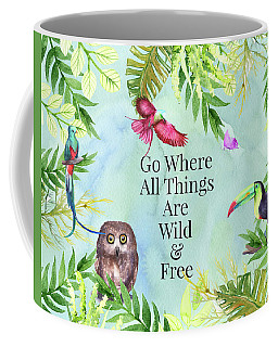 Coffee Mug featuring the digital art Wild And Free by Colleen Taylor