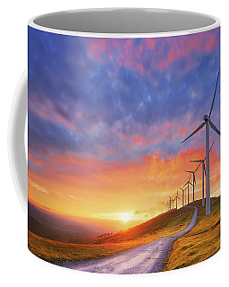 wind turbines in Oiz eolic park Coffee Mug