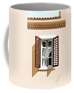 Window Above Athens - Prints From Original Oil Painting Coffee Mug