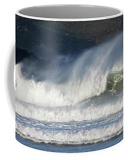 Coffee Mug featuring the photograph Windy Seas In Cornwall by Nicholas Burningham