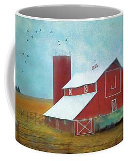 Winter Red Barn Coffee Mug