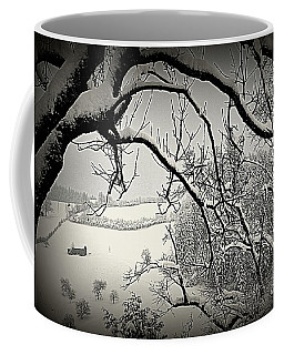 Coffee Mug featuring the photograph Winter Scene In Switzerland by Susanne Van Hulst