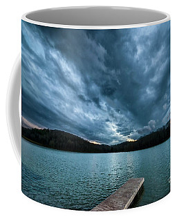 Coffee Mug featuring the photograph Winter Storm Clouds by Thomas R Fletcher