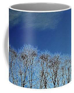 Winter Trees And Sky 3  Coffee Mug