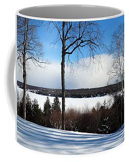 Winter View Of Sister Bay Coffee Mug