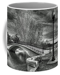 Coffee Mug featuring the photograph Winter's Bridge by Rodney Campbell