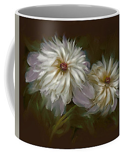Coffee Mug featuring the digital art Withering Peony by Bonnie Willis