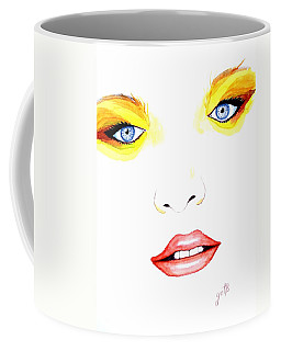 Woman Scent Watercolor Painting Coffee Mug