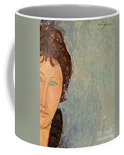 Woman With Blue Eyes Coffee Mug