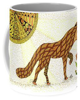 Coffee Mug featuring the drawing Wonder by Barbara McConoughey