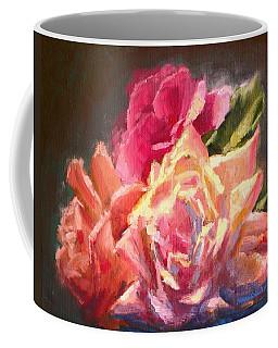 Yellow And Pink Roses Coffee Mug