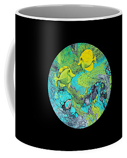 Coffee Mug featuring the painting Yellow Tang by Darice Machel McGuire