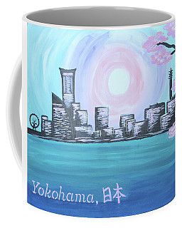 Yokohama Skyline Coffee Mug by Cyrionna The Cyerial Artist