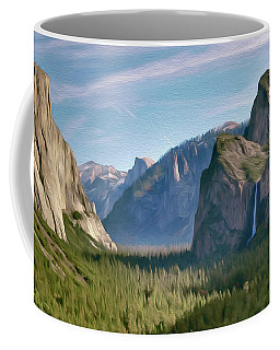 Yosemite Falls Coffee Mug by Walter Colvin