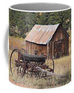 Coffee Mug featuring the photograph Seed Tiller - Barn Westcliffe Co by Margarethe Binkley