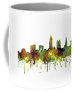 Cleveland Ohio Skyline Coffee Mug by Marlene Watson