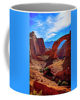 Coffee Mug featuring the photograph Rainbow Bridge Monument by Peter Lakomy