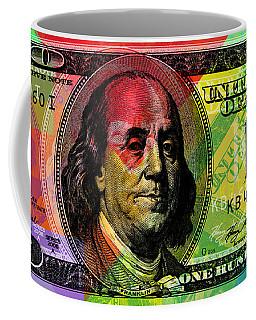 Benjamin Franklin - Full Size $100 Bank Note Coffee Mug