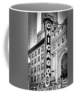 1077 Chicago Theater Black And White Coffee Mug