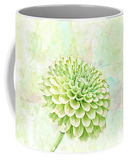 10891 Green Chrysanthemum Coffee Mug by Pamela Williams