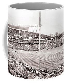 10931 Kauffman Stadium Field Bw Coffee Mug